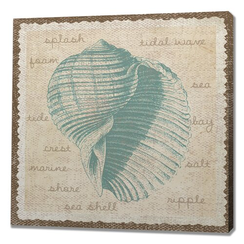 Sea Shell Splash Graphic Art on Canvas
