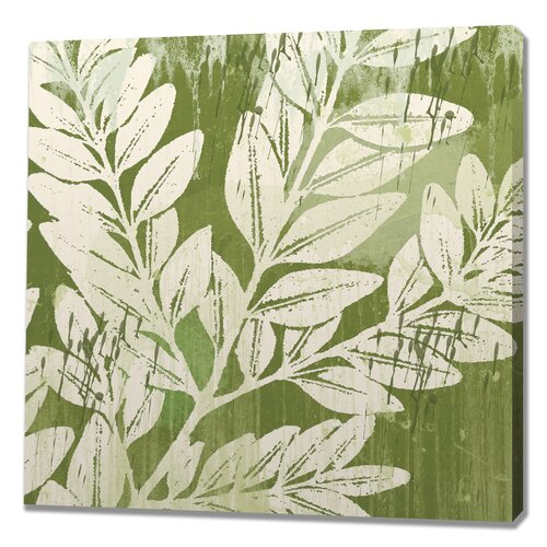 Sage Foliage Painting Print on Canvas