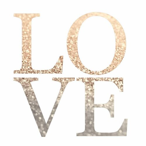 'Gatsby Gold Love' by Monika Strigel Textual Art on Canvas