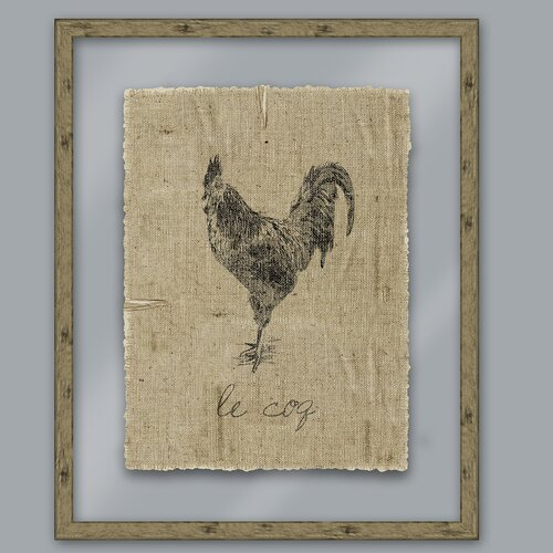 A Rustic Retreat Rooster Graphic Art