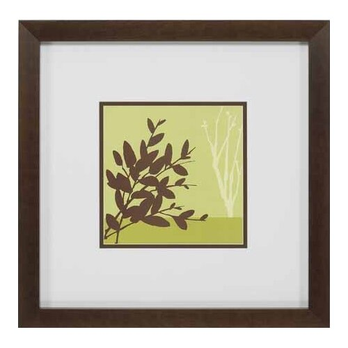 Metro Leaves in Chartreuse I by Erica Vess Framed Graphic Art