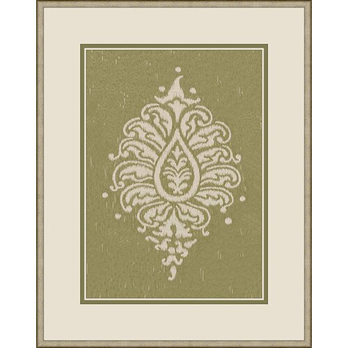 Epic Art Paisley Framed Graphic Art in Green