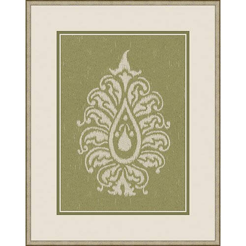 Epic Art Paisley II Framed Graphic Art in Green