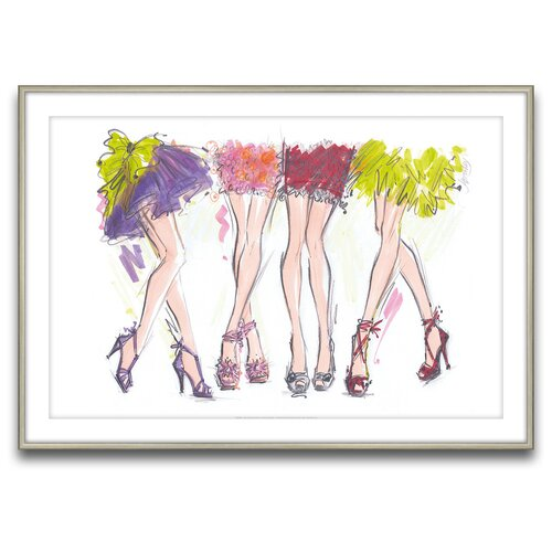 Epic Art Party Legs Framed Graphic Art