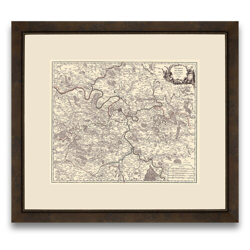 Epic Art Tour d'Europa Map of Paris Framed Graphic Art