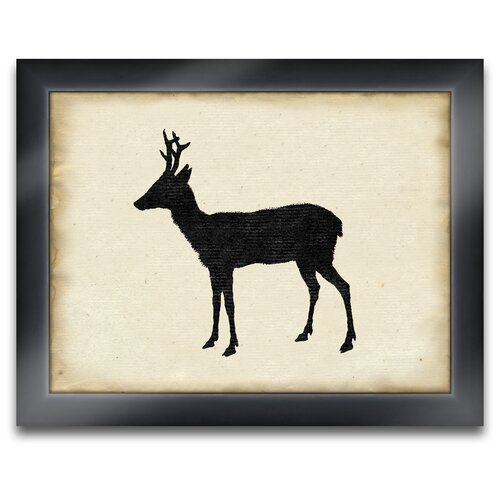 Elk Deer Framed Graphic Art