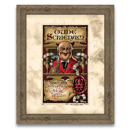 Epic Art The Connoisseur's Eye Wine Label V Framed Graphic Art