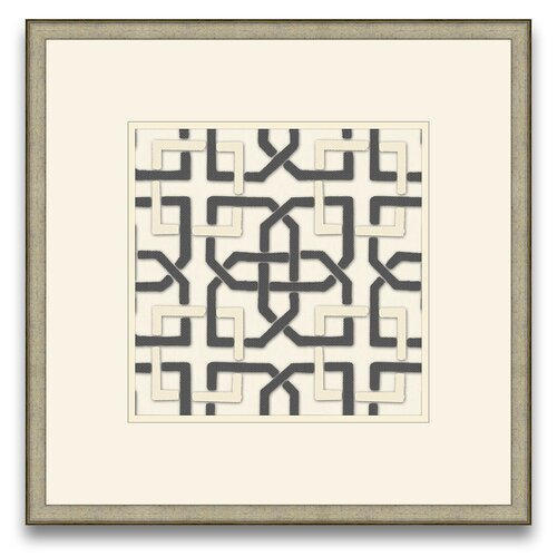 Epic Art Euclid's Charm Felt Interlocking IV Framed Graphic Art