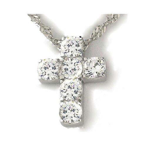 Splendor Jewelry Religious Sterling Silver Cross Necklace