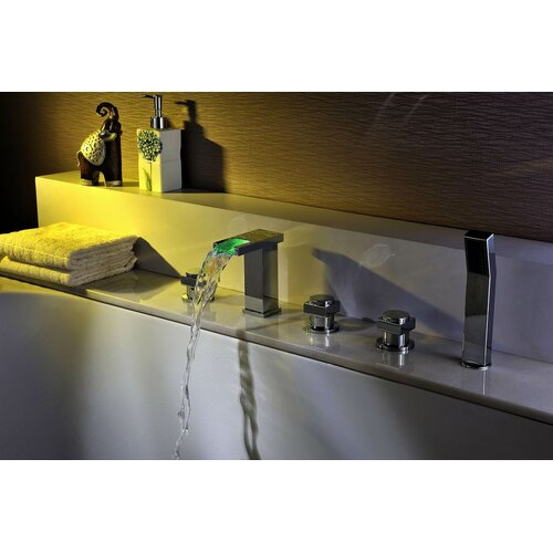 international group deck mount tub faucet set with handheld sprayer