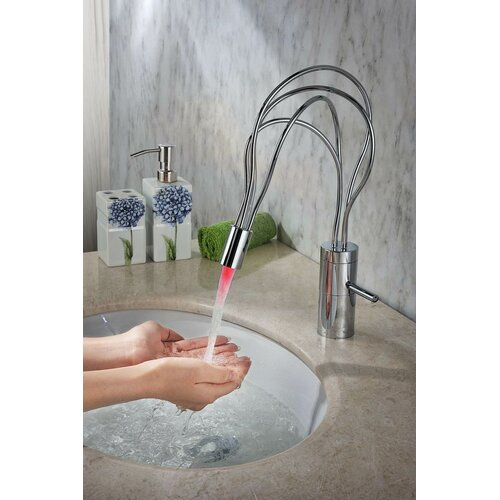 Sumerain International Group Single Handle Deck Mount LED Bathroom Sink Faucet