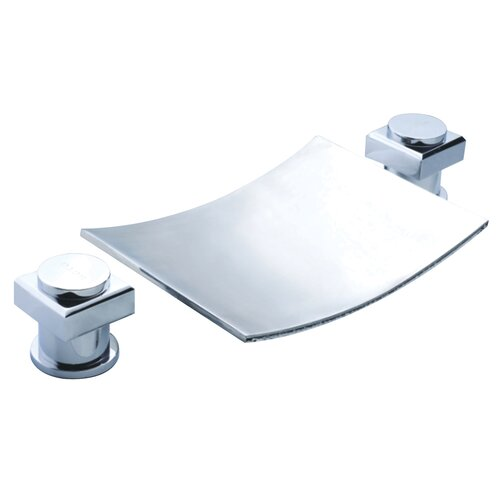 Dual Bathroom Sink : ... Group Double Handle Widespread Waterfall Bathroom Sink Faucet