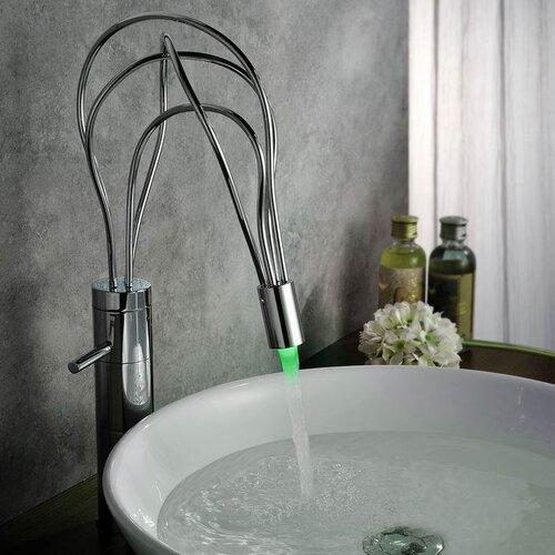 Single Handle Deck Mount LED Vessle Faucet