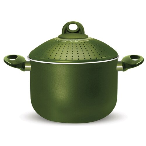 Terre di Siena Stock Pot with Lid