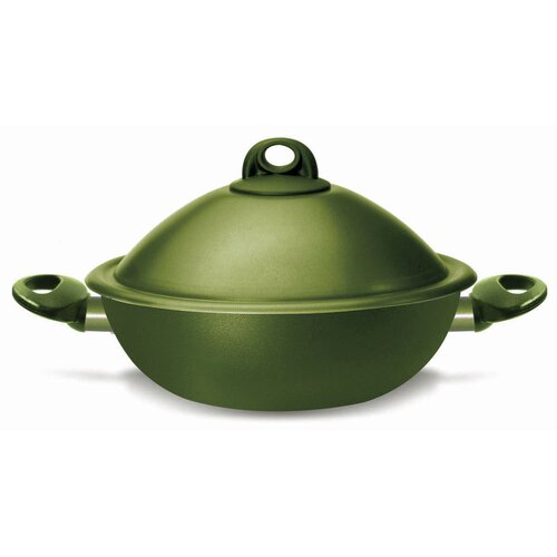 Terre di Siena Bio-Ceramix Non-Stick VapSi Steam Cooker Wok (Set of 4)