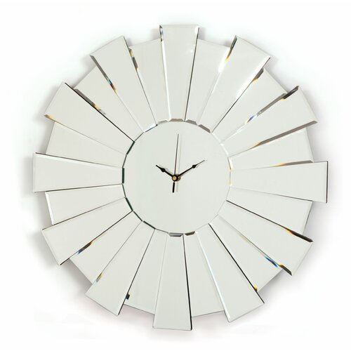 Bedroom track lighting - Innova Sunburst Mirror Wall Clock Amp Reviews Wayfair Uk