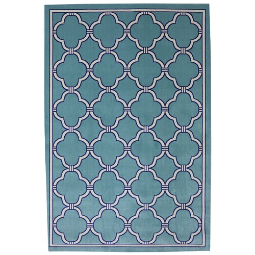 Panoramic Winter Mist Geometric Indoor/Outdoor Rug