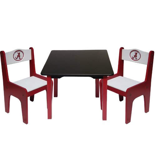 NCAA Kids' 3 Piece Table and Chair Set