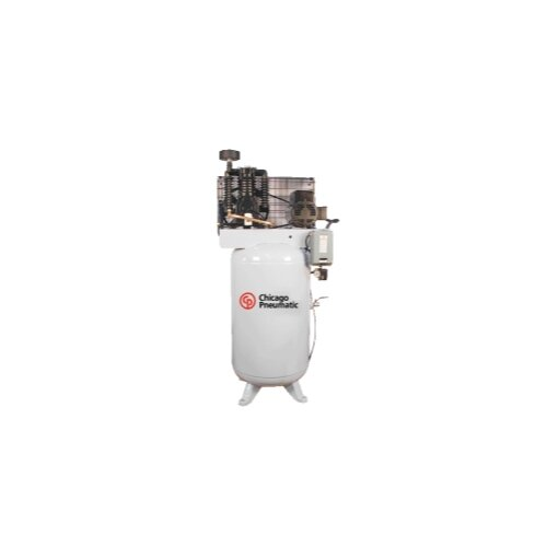 Chicago Pneumatic 80 Gallon 5 Hp Single Phase Vertical Tank Air Compressor