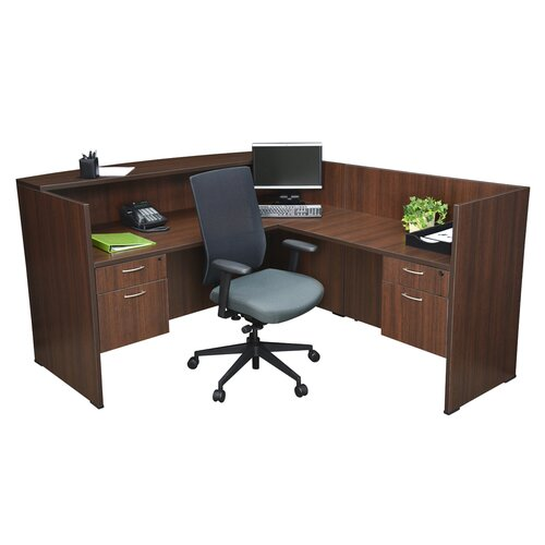 "Regency 71""x82"" Double Pedestal Reception Station"