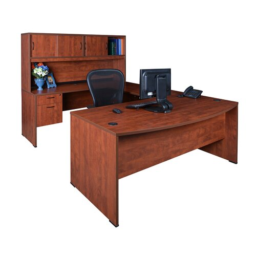 Regency Executive Bow Front U-Desk with Hutch