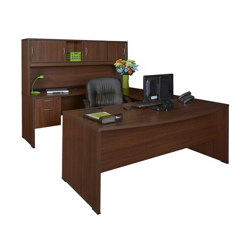 Regency Sandia U-Shape Bow Front Executive Desk with Hutche