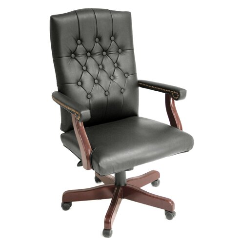 Regency Ivy League High-Back Traditional Vinyl Swivel Executive Chair