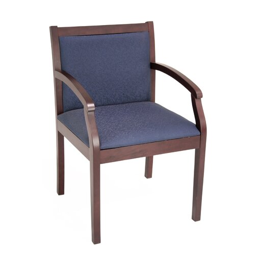 Regency Regent Wood and Fabric Guest Side Chair