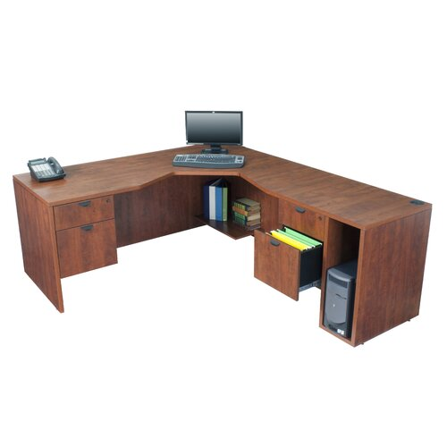 Regency Legacy Executive Desk with Angled Corner - Right