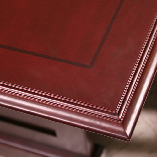 "Regency Prestige Traditional Veneer Executive Double Pedestal ""L"" Desk"