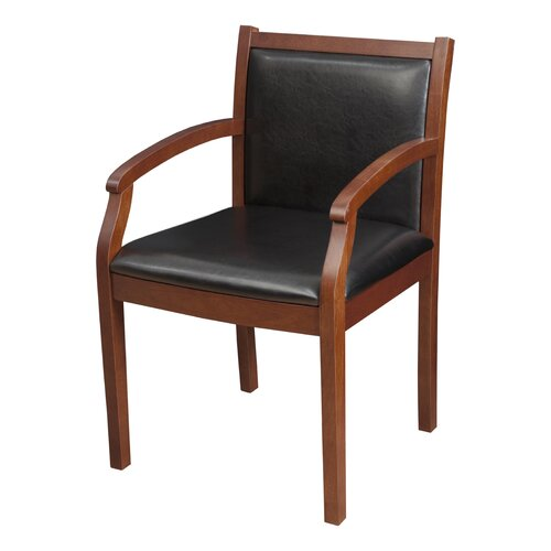 Regency Regent Wood and Leather Guest Side Chair