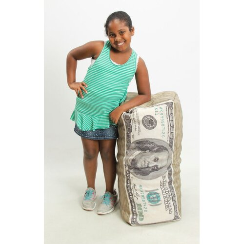 Wow Works LLC Money Junior Inflatable Bean Bag Chair