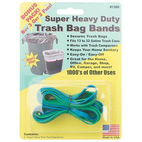 Creative Sales Company Super Heavy Duty Trash Bag Band (5 Count)
