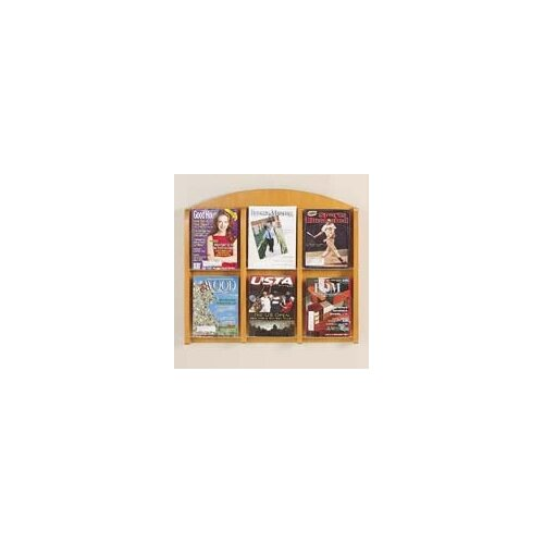 Lesro Transitional 6 Pocket Display Rack