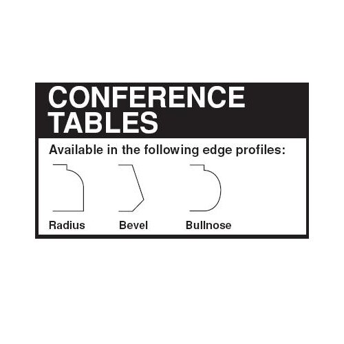 "Lesro Contemporary Series 48""  Rectangular Conference Table"