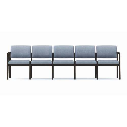Lesro Lenox Five Seat Sofa with Wood Frame