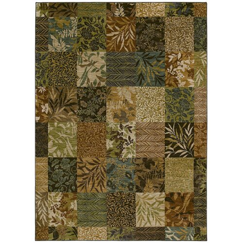Tommy Bahama Rugs Home Nylon Light Multi-Colored Leaf Batik Rug