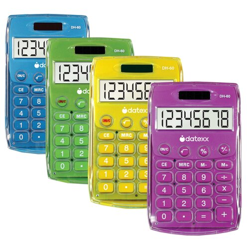 Dual Power Handheld Calculator