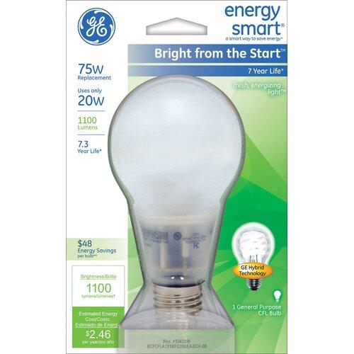 GE Lighting 20W Compact Fluorescent Light Bulb