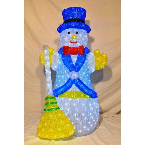 3D Snowman Lit with LED Christmas Decoration