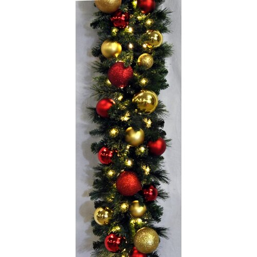 Queens of christmas pre lit sequoia decorated garland