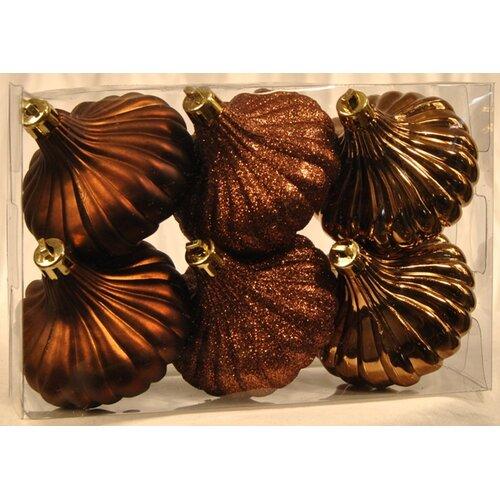Queens of Christmas Ridged Onion Ornament