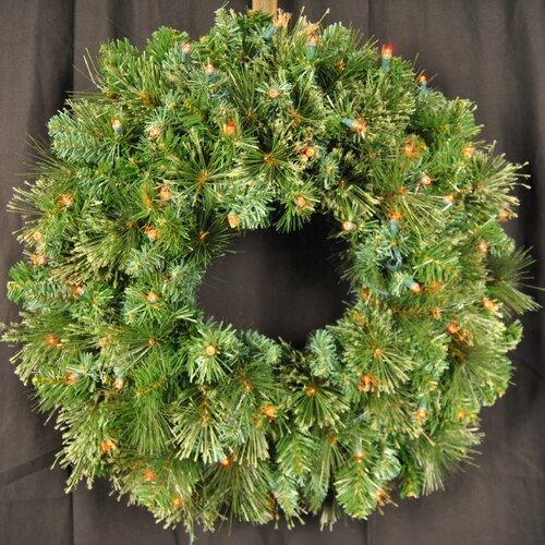 Pre-Lit LED Blended Pine Wreath