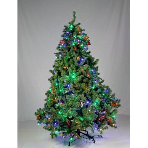 Queens of Christmas Pre-Lit Sequoia Tree with Multi Colored Lights