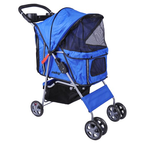 4-Wheel Front & Rear Entry Pet Stroller