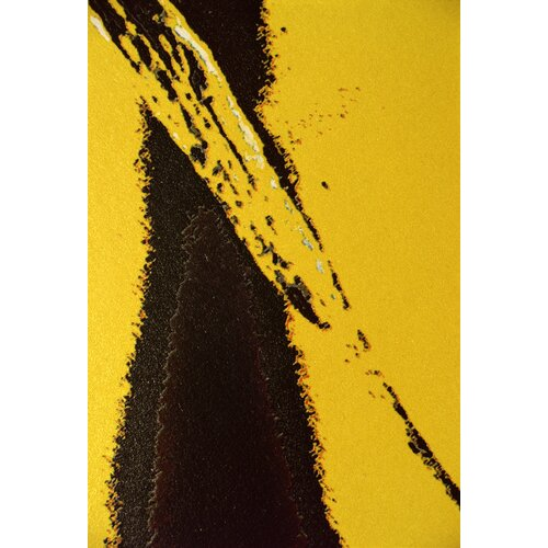 Abstract Yellow Textures Graphic Art on Canvas