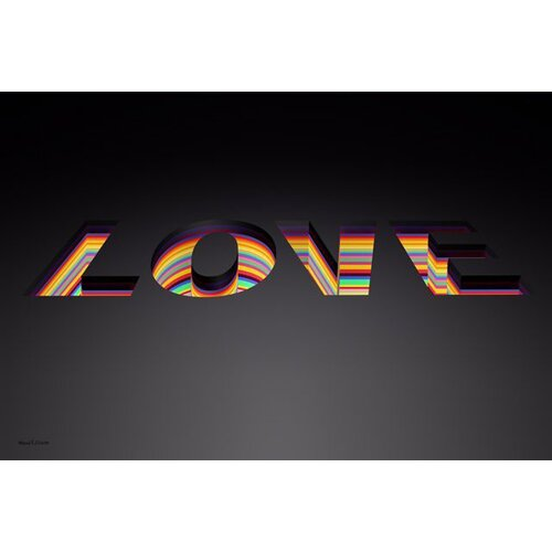 Depth of Love Graphic Art on Canvas