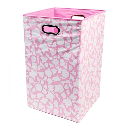 Rose Giraffe Folding Laundry Basket