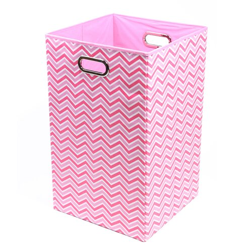 Modern Littles Rose Zig Zag Folding Laundry Basket