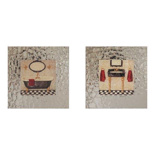 Elico LTD Paris Bath 2 Piece Framed Graphic Art Set